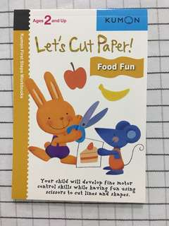 🚚 Kumon age 2 and up - lets cut paper
