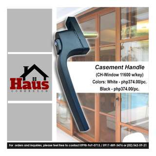 Casement handle window w/ key