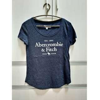 【全新正品】Abercrombie & Fitch(A&F) 女生大人 短袖黑T(S)