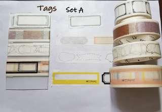 Tags Washi samples Set A