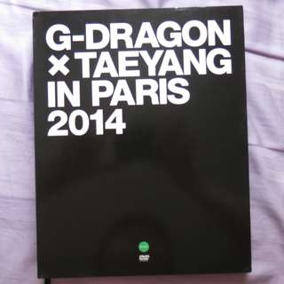 G-DRAGON X TAEYANG IN PARIS 2014 DVD & PHOTOBOOK