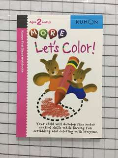 🚚 Kumon age 2 and up - let's color!