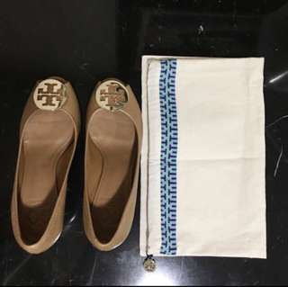 Authentic Tory Burch Sally Open Toe Wedges