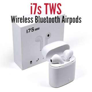 1f2048a7457 [IN STOCKS] i7s TWS Wireless Bluetooth Airpods Earbuds with Charging Case  #Caroupay
