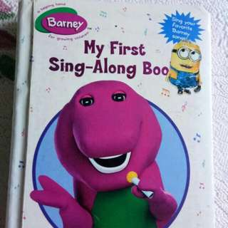 Buku Lagu Barney / Buku Anak / Song Book Kids
