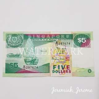 SGD $5 Note
