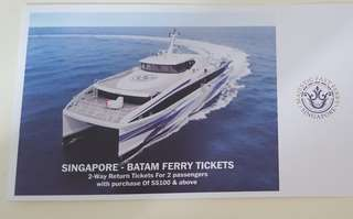Majestic Fast Batam 2 Way Ferry Tickets for 2