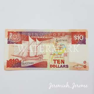 SGD $10 note