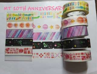 MT 10th Anniversary washi samples set