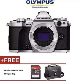 Olympus OM-D E-M5 Mark II Mirrorless Micro Four Thirds Digital Camera (Body, Silver or Black)