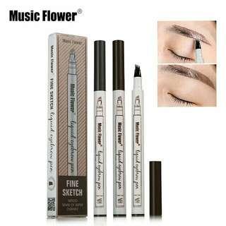 Music flower eyebrow pen (inspired)
