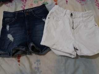 Bundle cotton on high waist shorts
