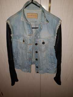 Denim and leather jacket