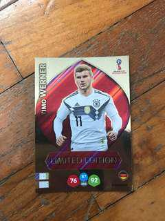 TIMO WERNER LIMITED EDITION WORLD CUP 2018 PANINI ADRENALYN