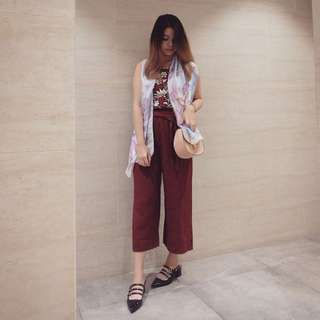 Pomelo red pants xs-s