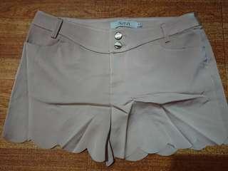 Nude scallop silk