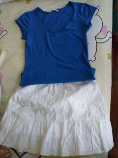 Zara Tees & uniqlo skirt BUNDLE!!