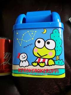 Kerokerokeroppi青蛙仔日本銀行出的絕版鐵垃圾桶