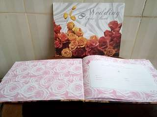 Take ALL Buku Tamu Wedding 2pcs
