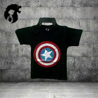 CAPTAIN AMERICA BLACK Kid T-Shirt TRSC-A020