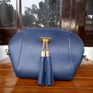 Sling Bag Tassel Navy