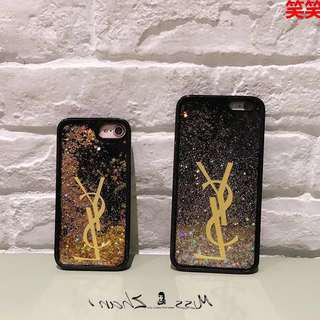 IPHONE 6/6s YSL INSPIRED BLACK GOLD GLITTER CASING COVER