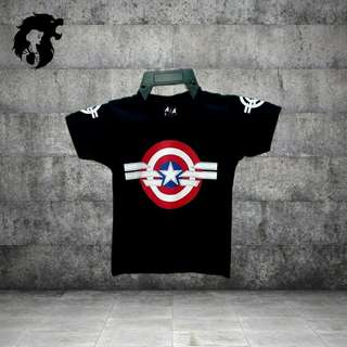 CAPTAIN AMERICA ROUND WING Kid's T-Shirt TRSC-A031