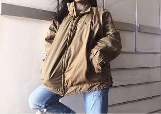 Auth Ralph Lauren taupe varsity jacket