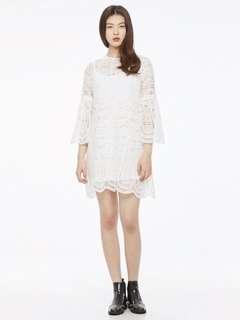 🚚 LAP 蕾絲縷洞洋裝 HHWO240