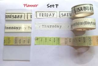 Planner Washi samples Set F