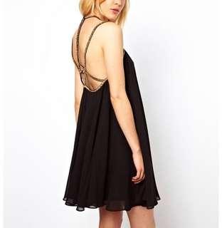 New ASOS embellished strap back swing dress