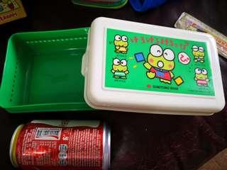 青蛙仔Keroppi日本銀行出的絕版1990年餐盒(罕有'