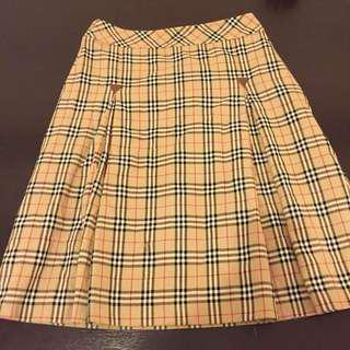 Burberry Blue Label Plaid Wool Skirt
