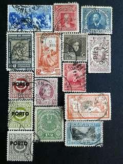 World vintage stamps#5