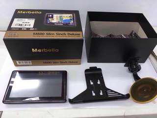 Merbella M880 slim 5 inch deluxe GPS Navigator with Bluetooth