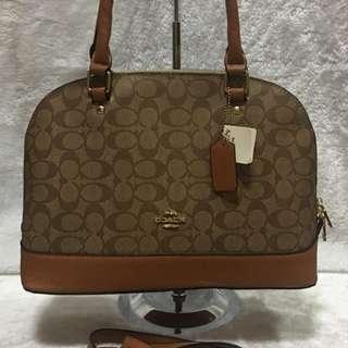Coach Bag 2 in 1 Signature Sierra Satchel Dome Bag Design Crossbody Bag Purse Handbag Shoulder Bag With Serial Number Women's Bag