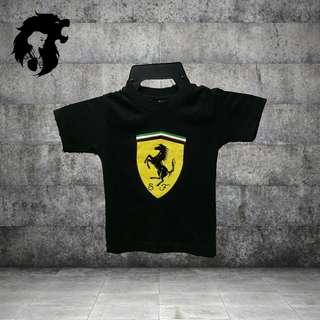 FERRARI BLACK Kid T-Shirt TRSC-A013