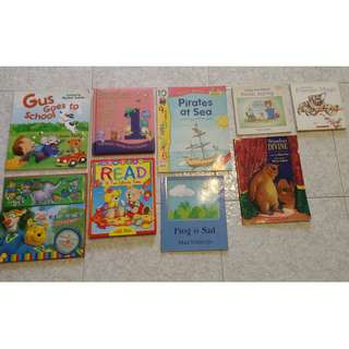 Set of 9 toddler books