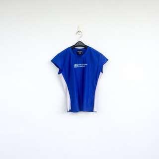 🚚 二手 POLO JEANS 藍白 彈性 上衣 短T 明太子 703