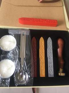 FP! BNIB rose wax seal copper stamp gift box set