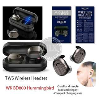 WK BD800 Hummingbird Mini True wireless TWS Bluetooth Stereo Headset