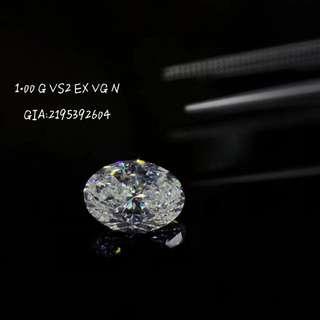 🚚 現貨 橢形白鑽 1.00克VS2 EX VG N GIA 匯率瘋狂漲,現貨的價格比訂貨好  價私