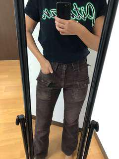 Funky brown cord vintage pants