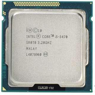 🚚 Intel 三代 Core I5-3470 ( 3.2~3.6G ) 拆機良品、支援H61、B75、Z77晶片主機板