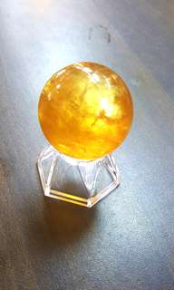 顶级黄金方解石球 AAA GRADE GOLDEN CALCITE BALL