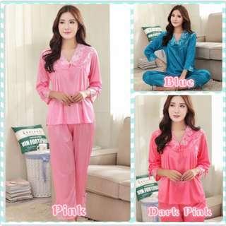 Muimui Woman Long Sleeve Shirt & Long Pant Suit With 3 Colour MS1057