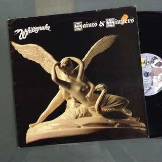 Lp Whitesnake (Saints & Sinners) - piring hitam/vinyl