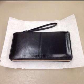 🆕👛 多夾層手拿包 (有8格卡層) - 黑色