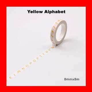 🚚 Washi Tape (Alphabet Yellow)