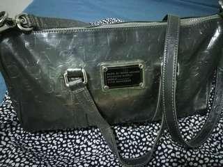 PRICE DROP!!! Preloved Marc Jacobs Silver Graffiti Two-Way Bag